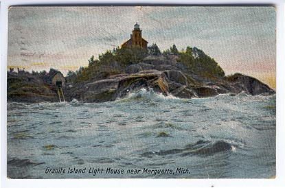 Postcard of Granite Island